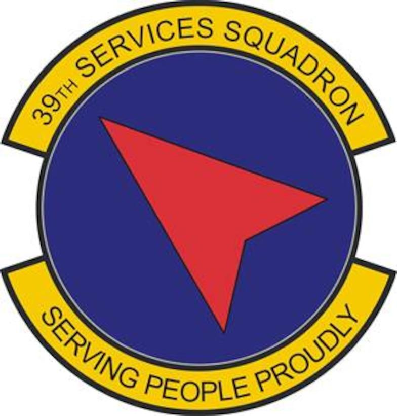 39th Services Squadron patch