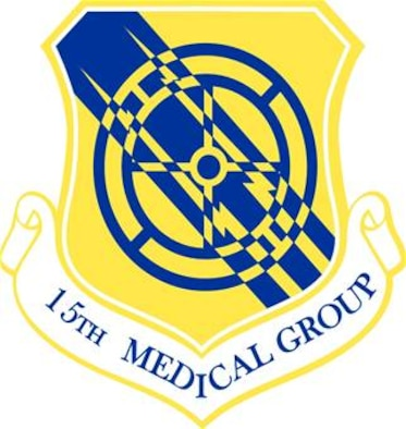 The shield of the 15th Medical Group.