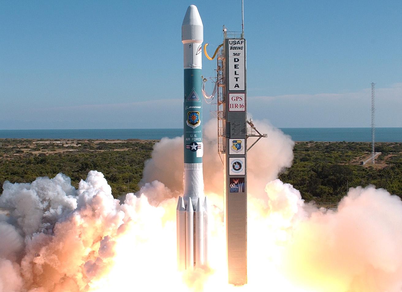 gps block iir 16 m satellite launch successful