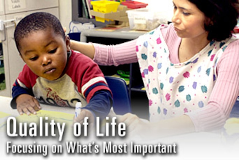 Quality of life continues to be one of the top three priorities for the Air Force. Airmen can still expect high-caliber quality of life programs, such as this child development center,  that will take care of them and their families despite the changes being made within the service.  (U.S. Air Force graphic)