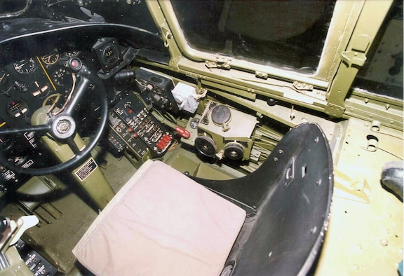 DAYTON, Ohio - Douglas A-20G Havoc cockpit at the National Museum of the U.S. Air Force. (U.S. Air Force photo)