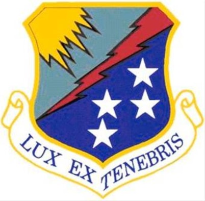 The shield of the 67th Network Warfare Wing at Lackland Air Force Base, Texas