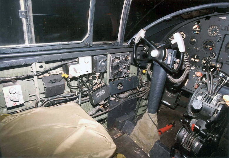 DAYTON, Ohio - North American B-25B Mitchell cockpit at the National Museum of the U.S. Air Force. (U.S. Air Force photo)