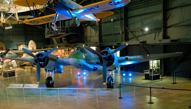 A Bristol Beaufighter is the newest addition to the Air Power Gallery at the National Museum of the U.S. Air Force in Dayton, Ohio. (U.S. Air Force Photo).