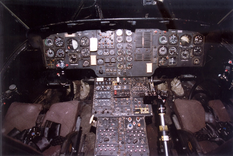 DAYTON, Ohio -- Sikorsky CH-3E cockpit at the National Museum of the United States Air Force. (U.S. Air Force photo)