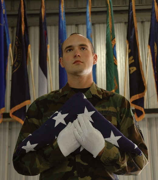 Staff Sgt. Aaron Gray, 30th Medical Group recently accepted an assignment to serve on the United States Air Force Honor Guard at Bolling AFB, D.C. Sergeant Gray has served on the base honor guard for three years.(Air Force photo/Staff Agt. Allen Puckett)