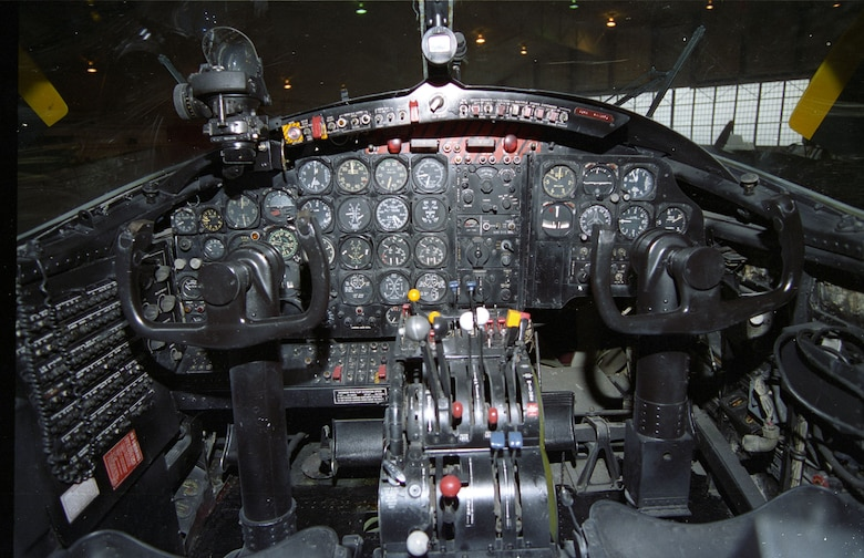 DAYTON, Ohio -- Douglas B-26K (A-26A) Counter Invader cockpit at the National Museum of the United States Air Force. (U.S. Air Force photo)