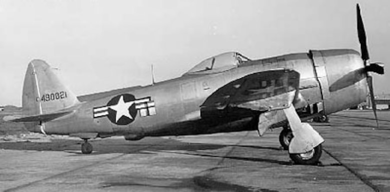 Republic P-47D-30-RE (S/N 44-90021). (U.S. Air Force photo)