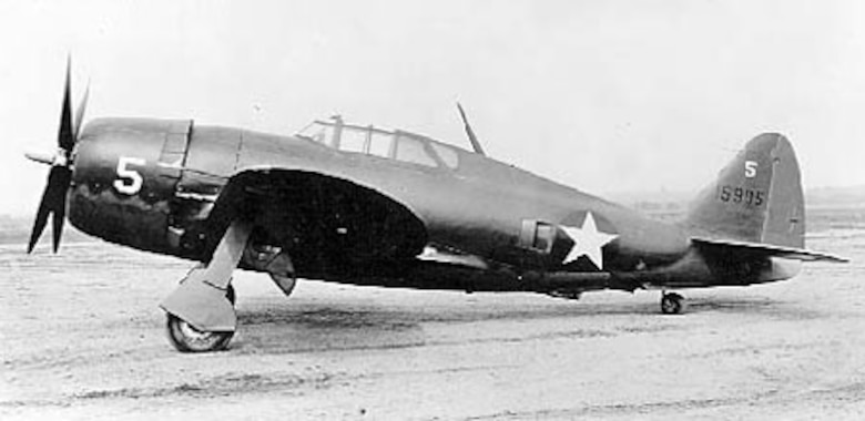 Republic P-47B-RA (S/N 41-5905). (U.S. Air Force photo)