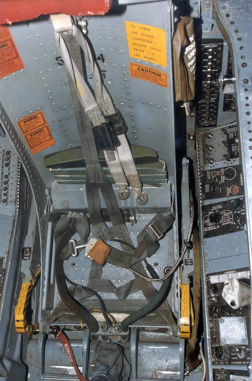 DAYTON, Ohio - North American F-100F Super Sabre cockpit at the National Museum of the U.S. Air Force. (U.S. Air Force photo)