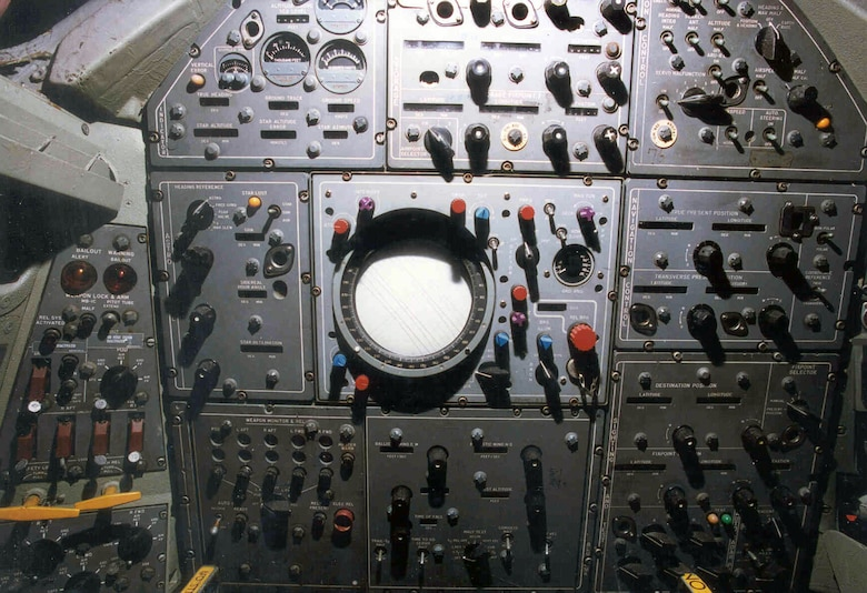 DAYTON, Ohio -- Convair B-58 Hustler cockpit at the National Museum of the United States Air Force. (U.S. Air Force photo)