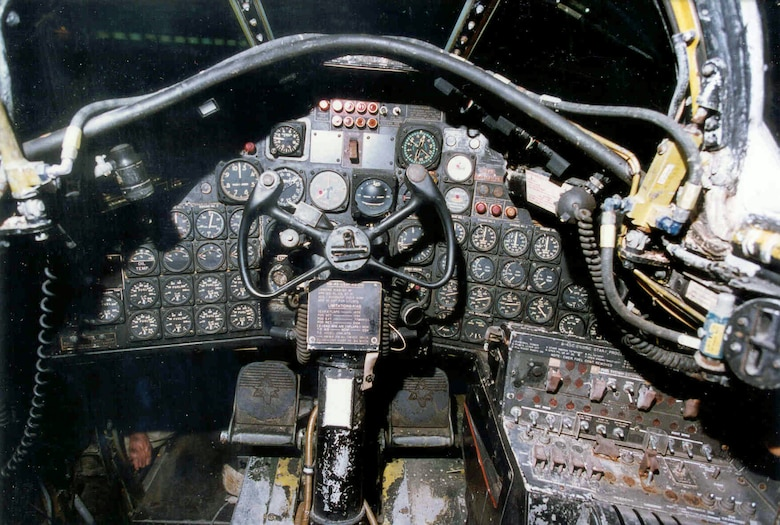 DAYTON, Ohio - North American B-45C Tornado cockpit at the National Museum of the U.S. Air Force. (U.S. Air Force photo)