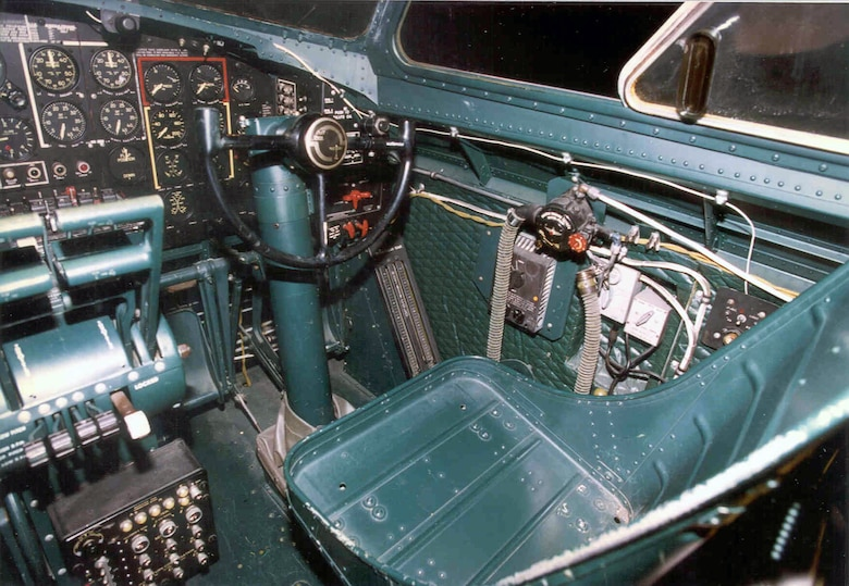 DAYTON, Ohio - Boeing B-17G Flying Fortress cockpit at the National Museum of the U.S. Air Force. (U.S. Air Force photo)
