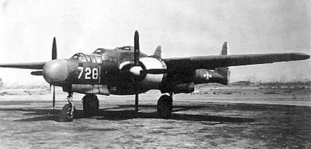 Northrop P-61A-1-NO (S/N 42-5488; fourth block 1 aircraft built) taken Aug. 25, 1944. (U.S. Air Force photo)