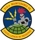 916th Maintenance Squadron patch