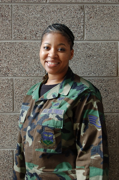 Staff Sgt. Pourshia Chambers-Motley, who hails from Tucson, Ariz., is Buckley's Star Performer for the week of Oct. 27 through Nov. 2. Sergeant Chambers-Motley works in the 460th Mission Support Squadron. (U.S. Air Force photo by Senior Airman Jacque Lickteig)