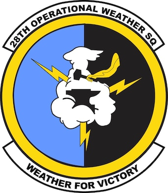 Emblem for the 28th Operational Weather Squadron located at Shaw AFB, S.C.
