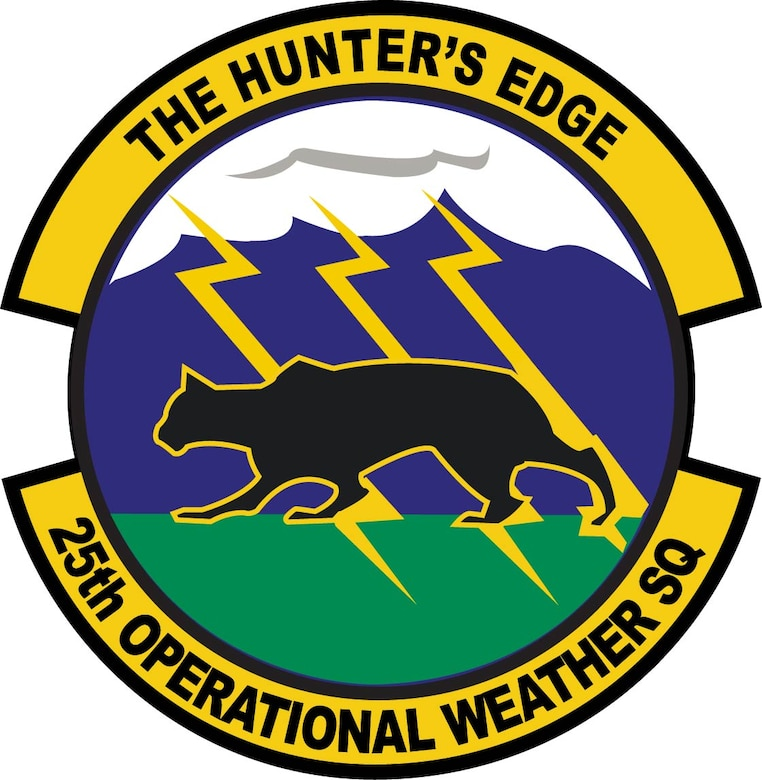 Emblem for the 25st Operational Weather Squadron located at Davis-Monthan AFB, Ariz.