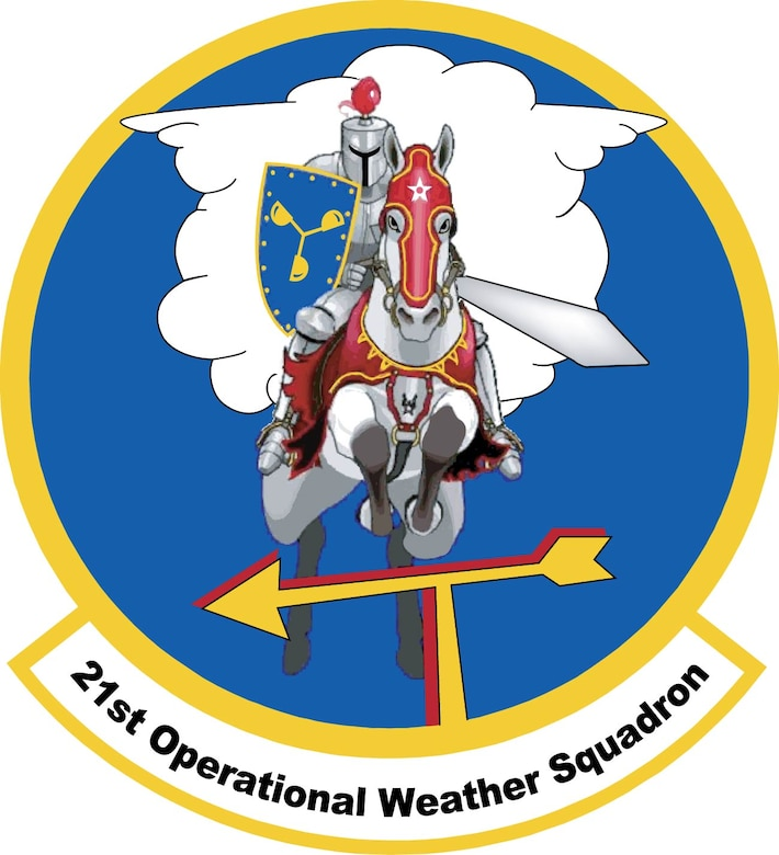 Emblem for the 21st Operational Weather Squadron located at Sembach AB, Germany.