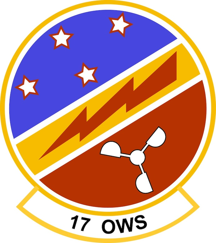 Emblem for the 17th Operational Weather Squadron located at Hickam AFB, Hawaii