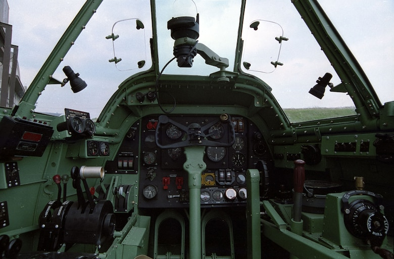 DAYTON, Ohio -- Bristol Beaufighter cockpit at the National Museum of the United States Air Force. (U.S. Air Force photo)