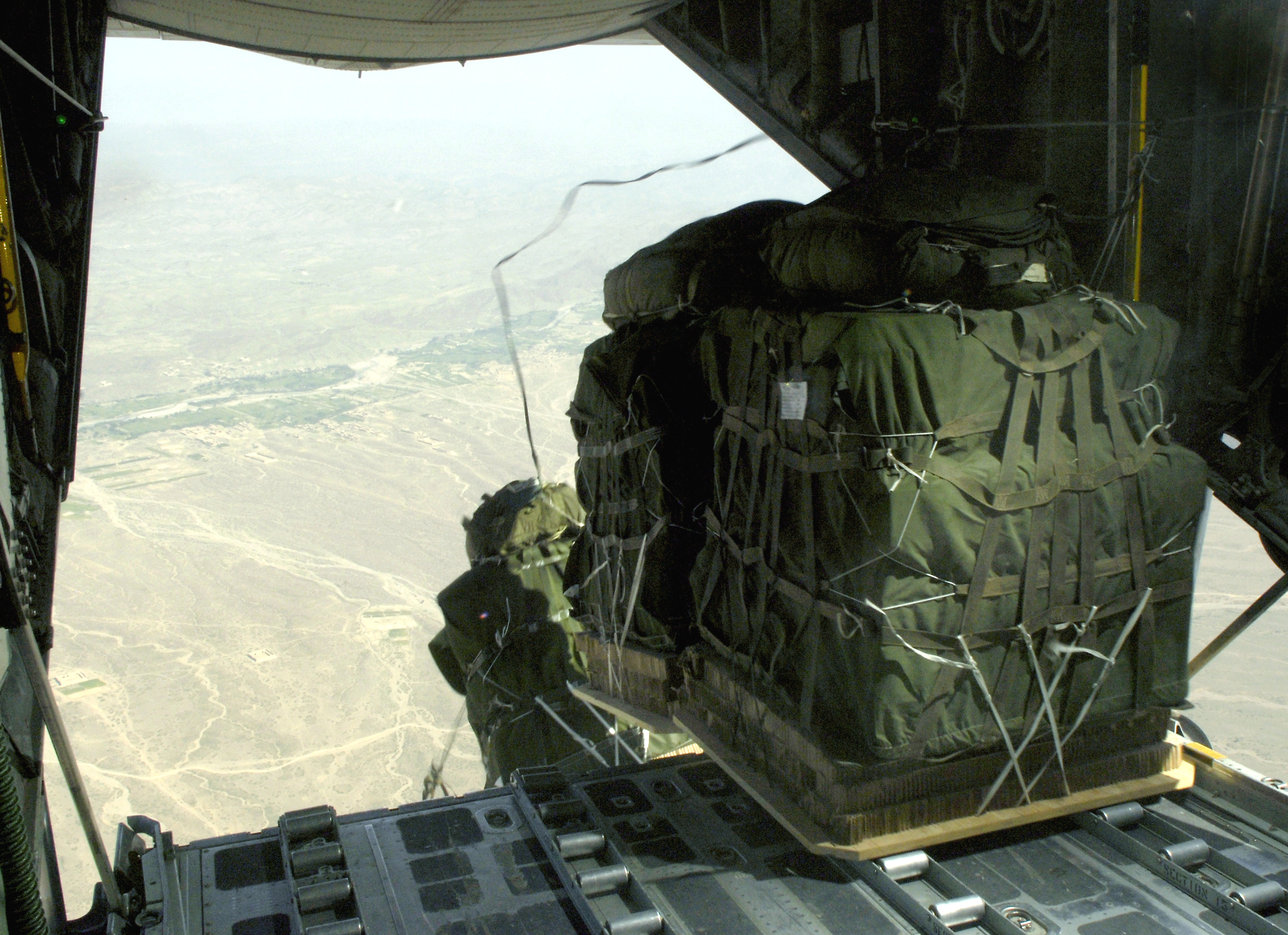 Bagram C130s Drop Hightech Cargo Delivery System