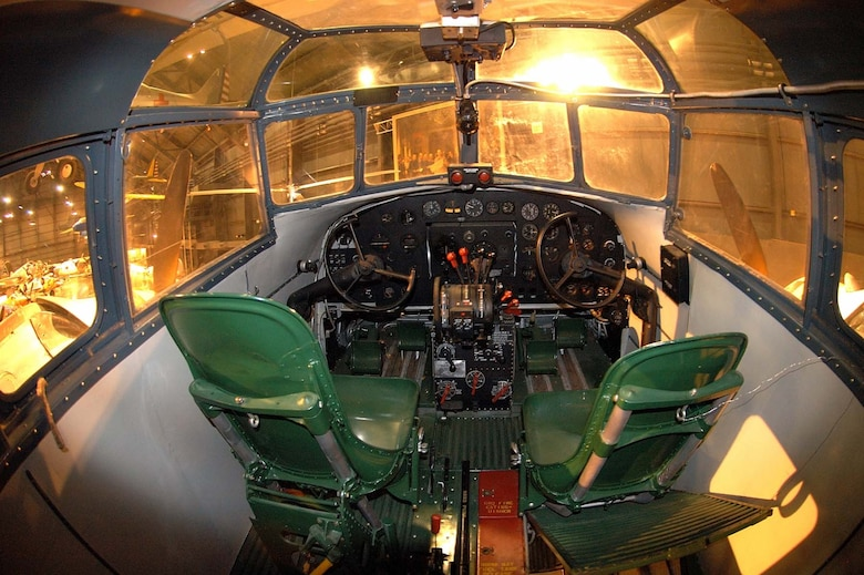 DAYTON, Ohio -- Douglas B-18 cockpit at the National Museum of the United States Air Force. (U.S. Air Force photo)