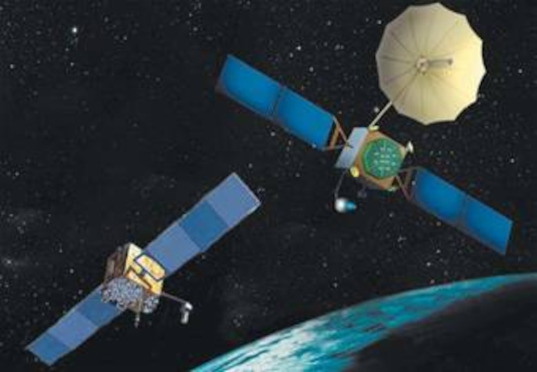 Global Positioning System satellites stationed in key positons in outer space provide vital service to both the military and civilian users.