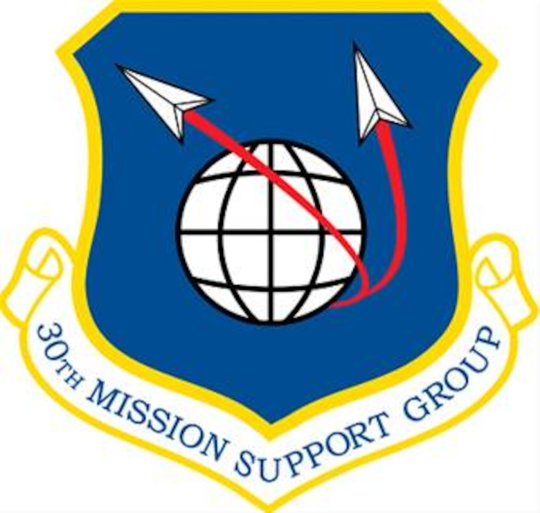 The shield of the 30th Mission Support Group, Vandenberg AFB, Calif.