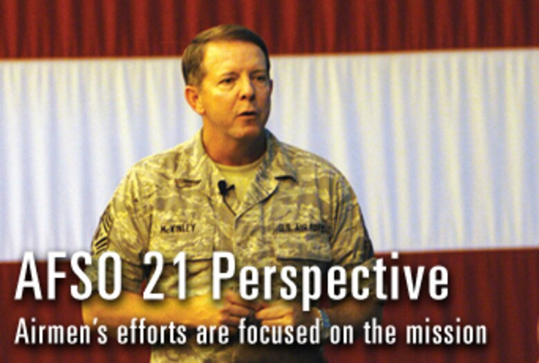 Chief McKinley offers AFSO 21 perspective
