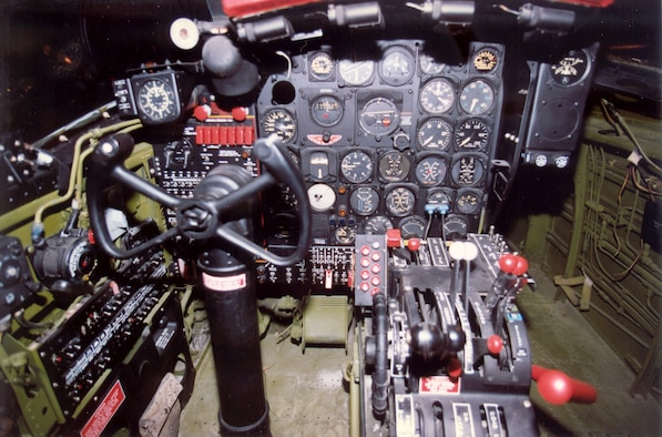 DAYTON, Ohio -- Douglas B-26C (A-26C) cockpit at the National Museum of the United States Air Force. (U.S. Air Force photo)