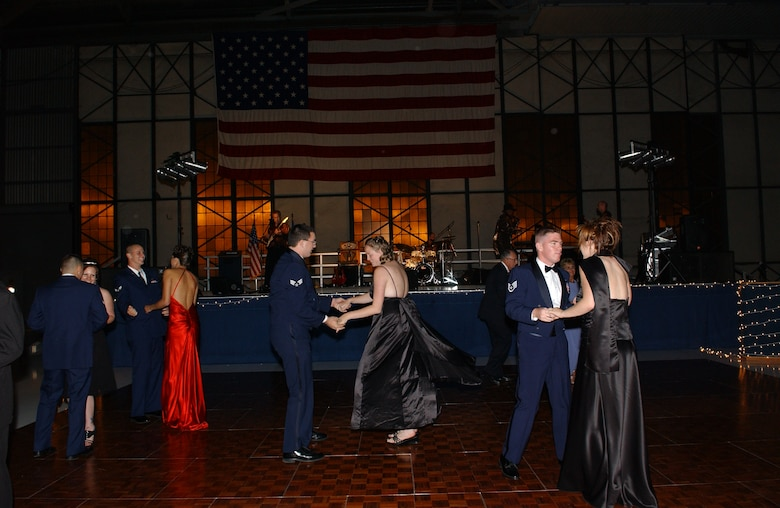 MCCHORD AIR FORCE BASE, Wash. — Airmen and their guests dance to the music of Emerald City Throw Down during the Air Force Ball. (U.S. Air Force photos/Abner Guzman)
