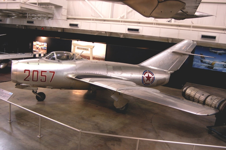 DAYTON, Ohio -- Mikoyan-Gurevich MiG-15 in the Korean War Gallery at the National Museum of the United States Air Force. (U.S. Air Force photo)
