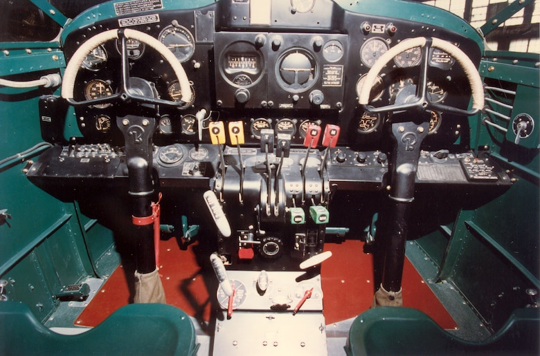 DAYTON, Ohio -- Beech AT-10 cockpit at the National Museum of the United States Air Force. (U.S. Air Force photo)
