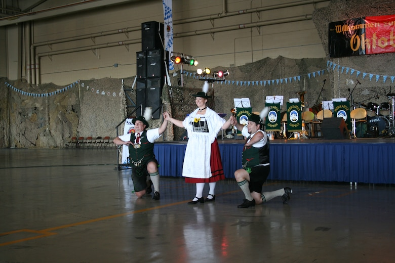A group from Albuquerque named Schuhplattlers, performed traditional Bavarian dances, entertaining the hundreds who came to enjoy the 10th Oktoberfest celebration Saturday.