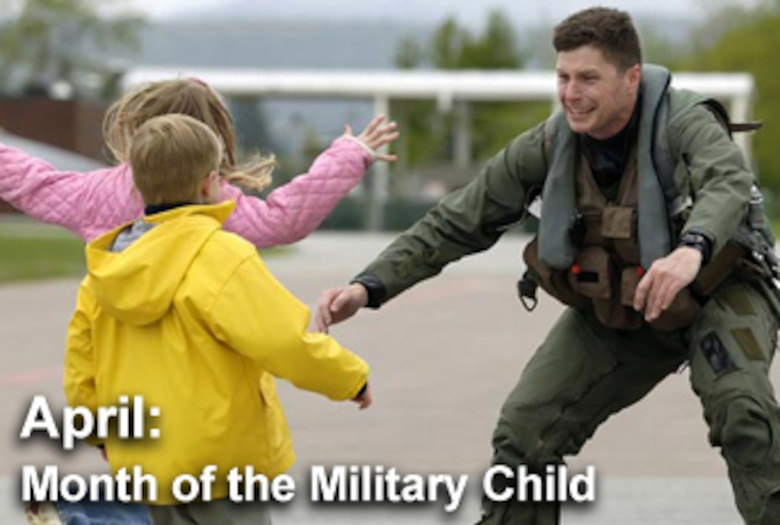 April is celebrated as the Month of the Military Child. (U.S. Air Force graphic)