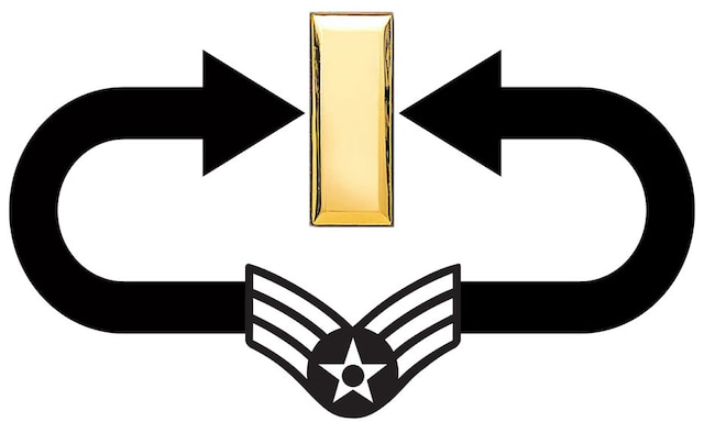 Trading stripes in for bars. (U.S. Air Force graphic by Senior Airman Tim Beckham)