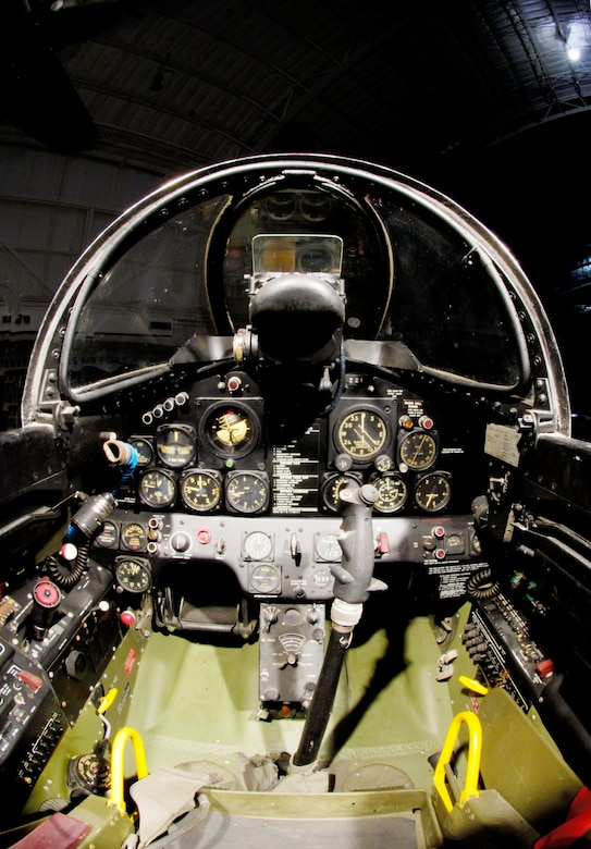 DAYTON, Ohio -- Lockheed F-80C cockpit at the National Museum of the United States Air Force. (Photo courtesy of John Rossino, Lockheed Martin Code One)