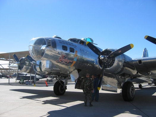 The Sentimental Journey B-17G Flying Fortress was on display March 24 and