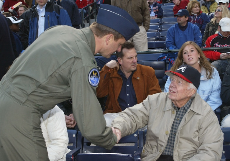 Col. Heath Nuckolls meets and greets 39th President of the United 