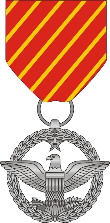 Air Force combat action medal, front view. (U.S. Air Force graphic)