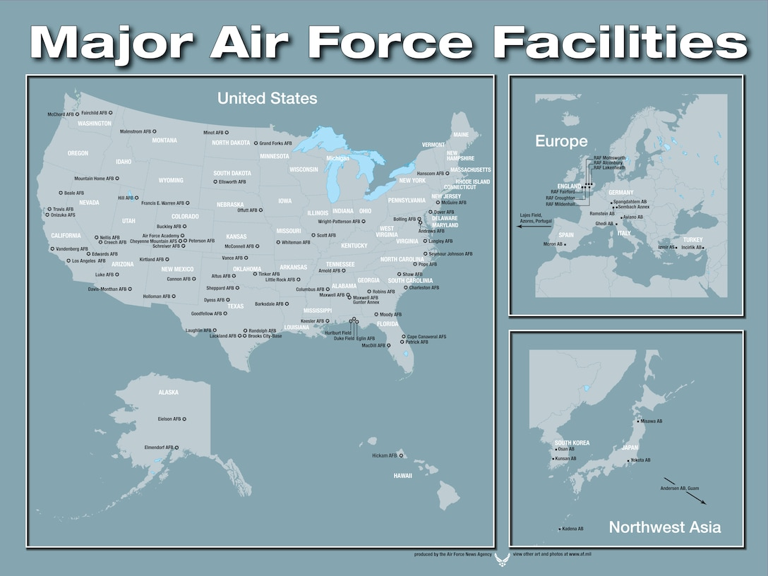 Air Force Bases In England Map.Base Map