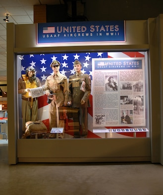 DAYTON, Ohio - The USAAF portion of the WWII: Airmen in a World at War exhibit in the World War II Gallery at the National Museum of the U.S. Air Force. (U.S. Air Force photo)