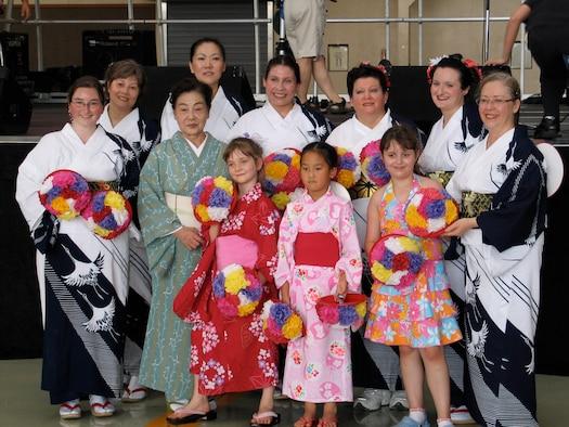 The Tanabata Dancers prepare for their dance event at the 2006 Friendship Festival at Yokota Air Base.( Photo by Jennifer Hensley VIRIN 060816-O-9999H-001)