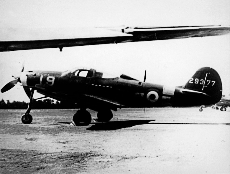 The USAAF supplied P-39Ns to the Regia Aeronautica's 4th Stormo in the summer of 1944. Note the Italian insignia painted over the USAAF insignia on the fuselage. (U.S. Air Force photo)