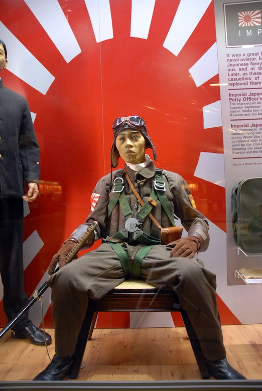 DAYTON, Ohio - The Japanese Imperial Navy Pilots portion of the WWII: Airmen in a World at War exhibit in the World War II Gallery at the National Museum of the U.S. Air Force. (U.S. Air Force photo)