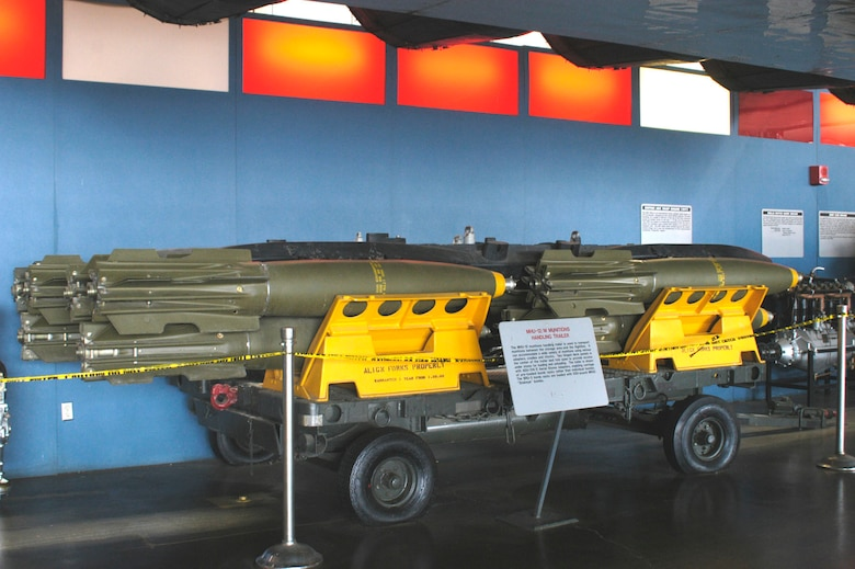 DAYTON, Ohio -- MHU-12/M Munitions Handling Trailer on display in the Research & Development Gallery at the National Museum of the United States Air Force. (U.S. Air Force photo)