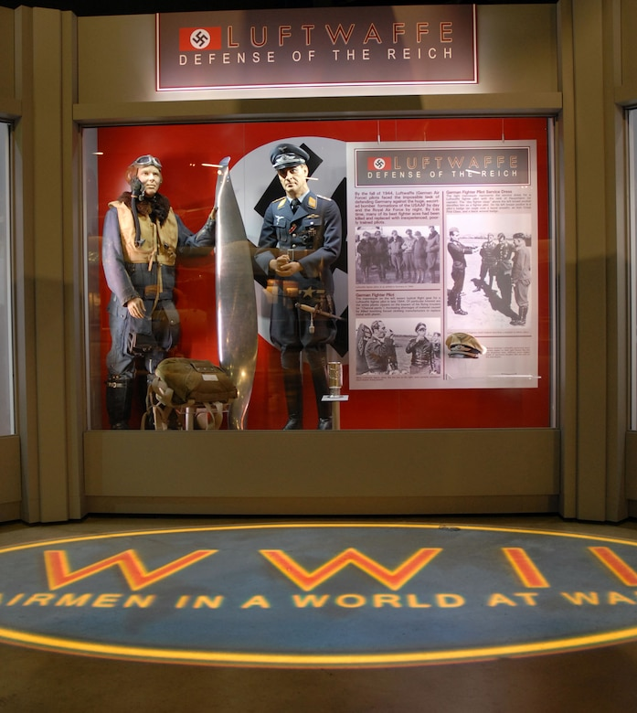 DAYTON, Ohio - The Luftwaffe portion of the WWII: Airmen in a World at War exhibit in the World War II Gallery at the National Museum of the U.S. Air Force. (U.S. Air Force photo)