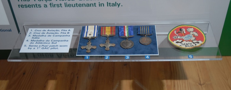 DAYTON, Ohio - Artifacts from the Brazilian FAB aircrews portion of the WWII: Airmen in a World at War exhibit in the World War II Gallery at the National Museum of the U.S. Air Force. (U.S. Air Force photo)
