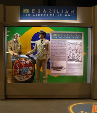 DAYTON, Ohio - The Brazilian FAB aircrews portion of the WWII: Airmen in a World at War exhibit in the World War II Gallery at the National Museum of the U.S. Air Force. (U.S. Air Force photo)